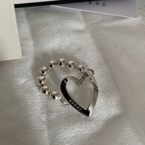 Gucci NWT Sterling Silver Toggle Heart Ring